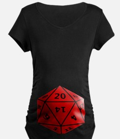 Geeky Dice Maternity T-Shirt