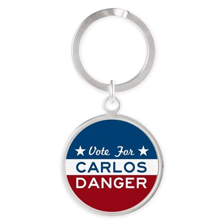 Vote For Carlos Danger Keychains