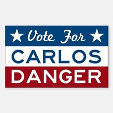 Vote For Carlos Danger Decal
