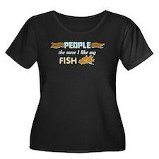 I Like My Fish Plus Size T-Shirt