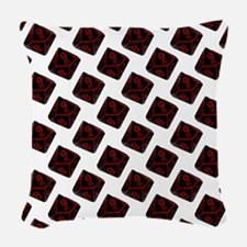 Geek Dice Woven Throw Pillow