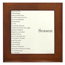 GCC Complete Season 1 Episode List Framed Tile
