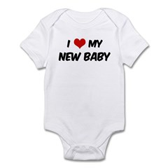 I Love My New Baby Infant Bodysuit