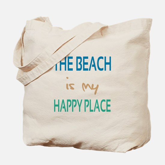 The Beach Is My Happy Place Tote Bag