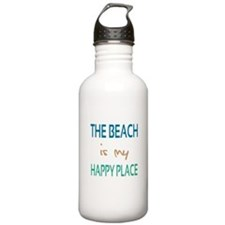 The Beach Is My Happy Place Water Bottle