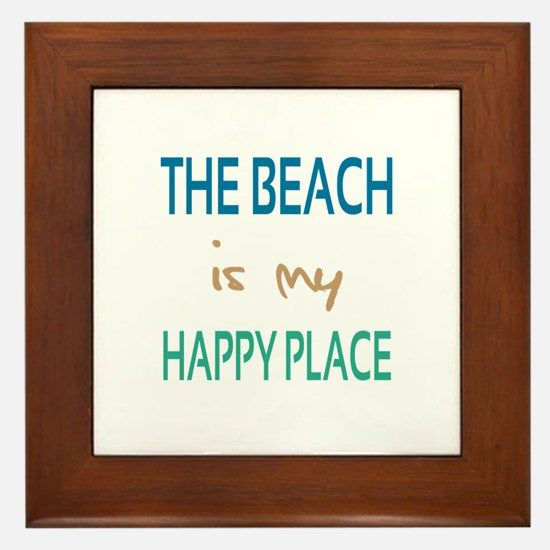 The Beach Is My Happy Place Framed Tile