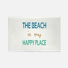 The Beach Is My Happy Place Rectangle Magnet