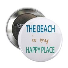 """The Beach Is My Happy Place 2.25"""" Button"""