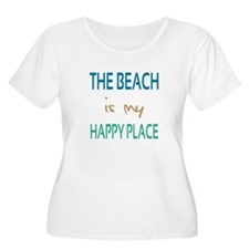 The Beach Is My Happy Place Plus Size T-Shirt
