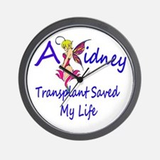A kidney transplant saved my life fairy Wall Clock