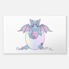 Cute Baby Dragon in Cracked Egg Blue and Purple St