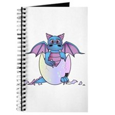 Cute Baby Dragon in Cracked Egg Blue and Purple Jo