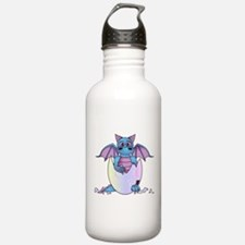 Cute Baby Dragon in Cracked Egg Blue and Purple Wa
