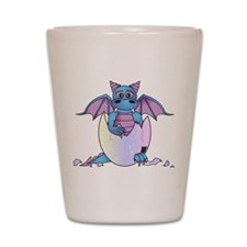 Cute Baby Dragon in Cracked Egg Blue and Purple Sh