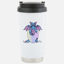 Cute Baby Dragon in Cracked Egg Blue and Purple Tr