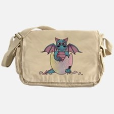 Cute Baby Dragon in Cracked Egg Blue and Purple Me