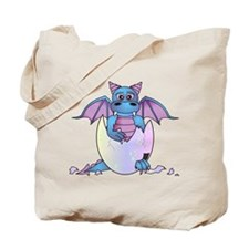 Cute Baby Dragon in Cracked Egg Blue and Purple To