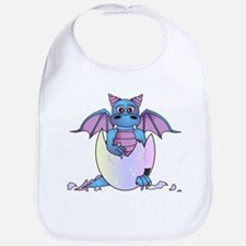 Cute Baby Dragon in Cracked Egg Blue and Purple Bi
