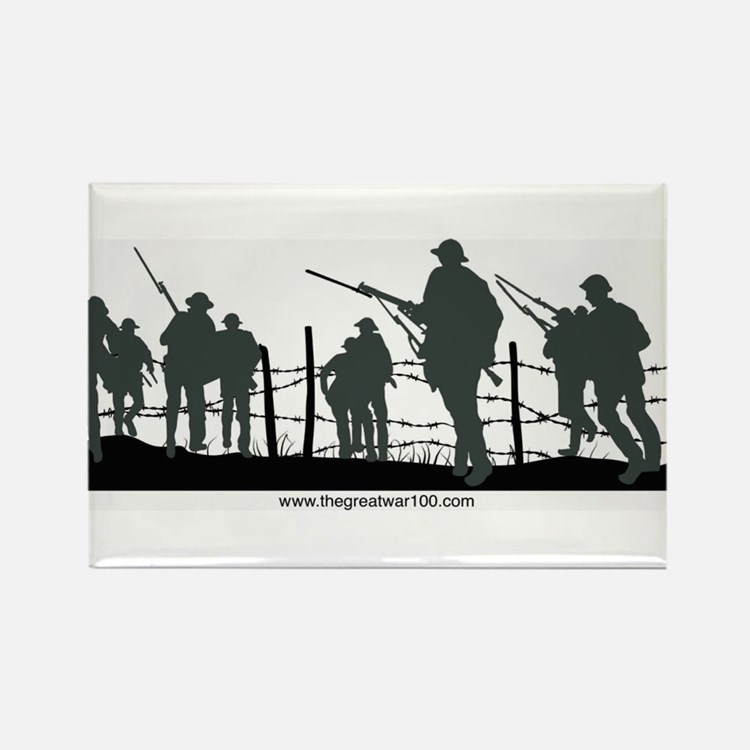 The Great War 100 Rectangle Magnet