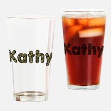 Kathy Army Drinking Glass