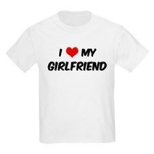 I Love My Girlfriend Kids T-Shirt