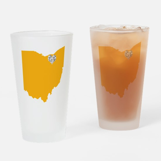 Cute Cleveland Drinking Glass