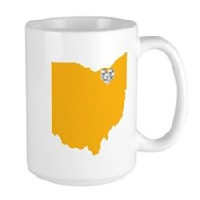 Ohio Cleveland Heart Mugs