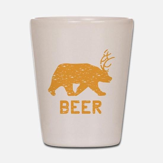 Bear + Deer = Beer Shot Glass