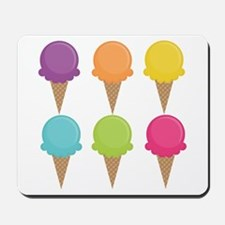 Colorful Waffle Cones Mousepad