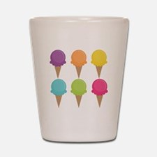 Colorful Waffle Cones Shot Glass