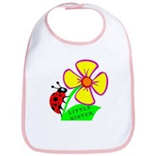 Little Sister lady Bug Flower Bib