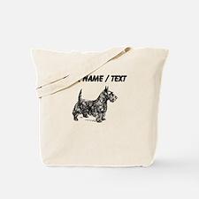 Custom Scottish Terrier Sketch Tote Bag