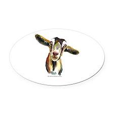 Goat Oval Car Magnet