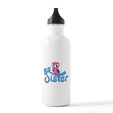 Pink Owl Big Sister Water Bottle