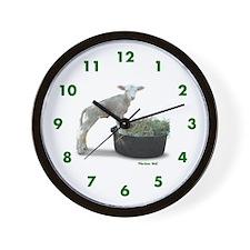 Ewephoric Dorset Lamb in a Tub Wall Clock