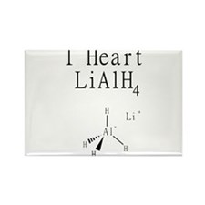 I Heart Lithium Aluminum Hydride Rectangle Magnet