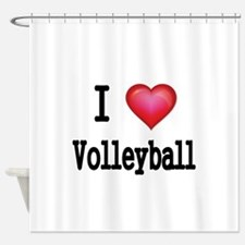 I LOVE MY VOLLEYBALL Shower Curtain