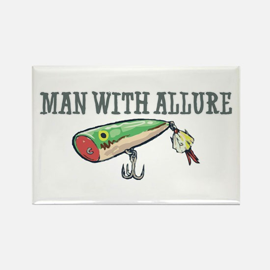Man With Allure Rectangle Magnet