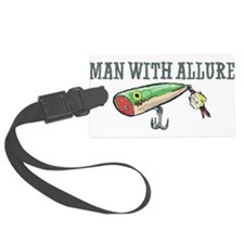 Man With Allure Luggage Tag