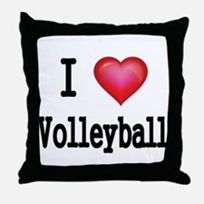 I LOVE MY VOLLEYBALL Throw Pillow