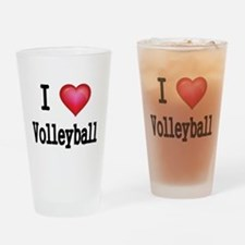 I LOVE MY VOLLEYBALL Drinking Glass