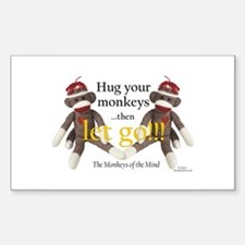Sock Monkey Letting Go Decal