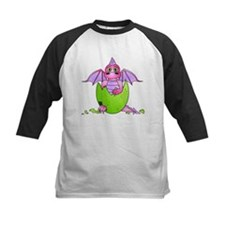 Cute Baby Dragon in Cracked Egg Pink and Purple Ba