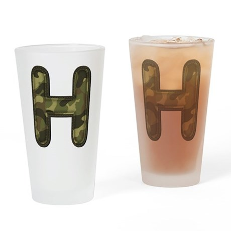 H Army Drinking Glass
