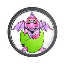 Cute Baby Dragon in Cracked Egg Pink and Purple Wa