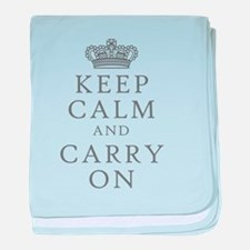 Keep Clam And Carry On baby blanket