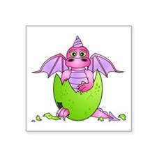 Cute Baby Dragon in Cracked Egg Pink and Purple St