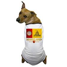Maryland Gadsden Flag Dog T-Shirt