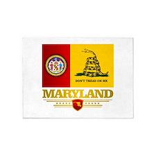Maryland Gadsden Flag 5'x7'Area Rug