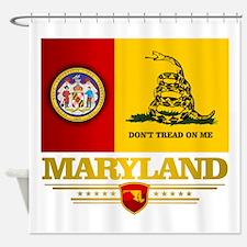 Maryland Gadsden Flag Shower Curtain